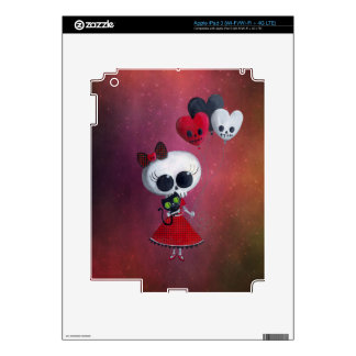 Little Miss Death Valentine Girl Skin For iPad 3