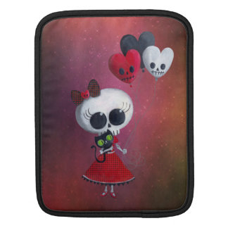Little Miss Death Valentine Girl Sleeve For iPads