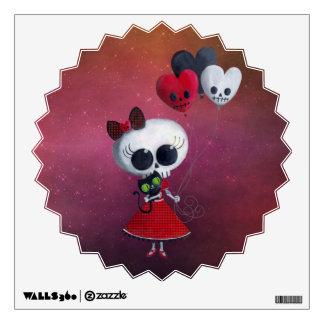 Little Miss Death Valentine Girl Wall Sticker
