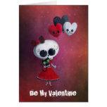 Little Miss Death Valentine Greeting Card