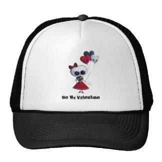 Little Miss Death Valentine Trucker Hat