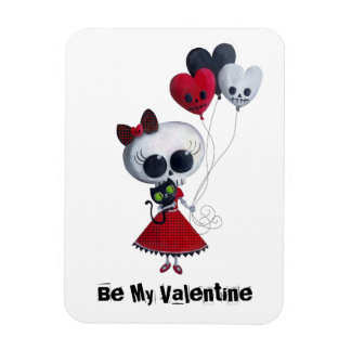 Little Miss Death Valentine Magnet