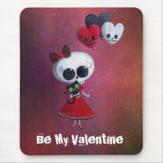 Little Miss Death Valentine Mouse Pad