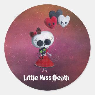 Little Miss Death Valentine Sticker