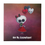 Little Miss Death Valentine Tile