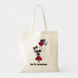 Little Miss Death Valentine Tote Bag