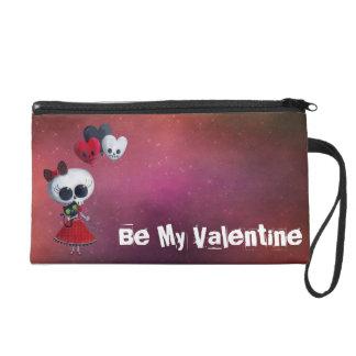Little Miss Death Valentine Wristlet