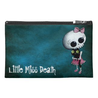 Little Miss Death with Black Cat Travel Accessories Bag