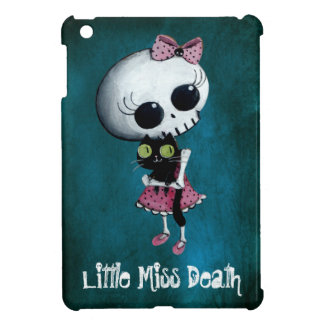 Little Miss Death with Black Cat Case For The iPad Mini