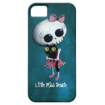 Little Miss Death with Black Cat iPhone 5 Cases
