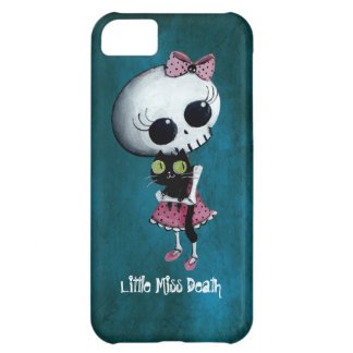 Little Miss Death with Black Cat iPhone 5C Cover