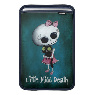 Little Miss Death with Black Cat MacBook Sleeve