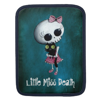 Little Miss Death with Black Cat Sleeve For iPads