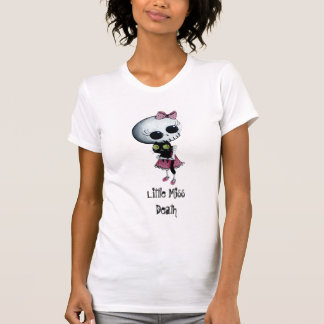 Little Miss Death with Black Cat T-shirts