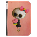 Little Miss Death with Cupcake Kindle Keyboard Case