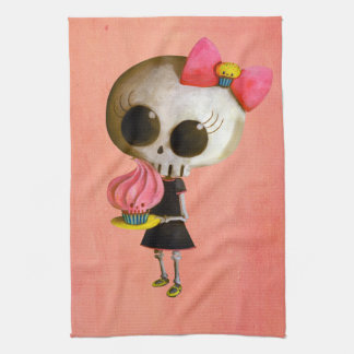 Little Miss Death with Cupcake Hand Towel