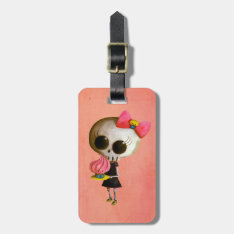 Little Miss Death With Cupcake Luggage Tag at Zazzle