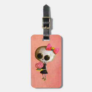 Little Miss Death with Cupcake Luggage Tag
