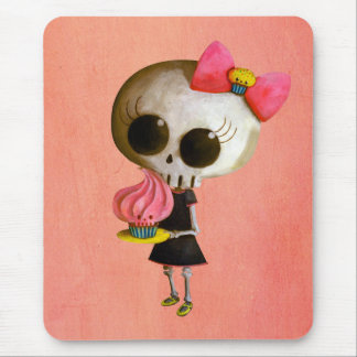 Little Miss Death with Cupcake Mouse Pad