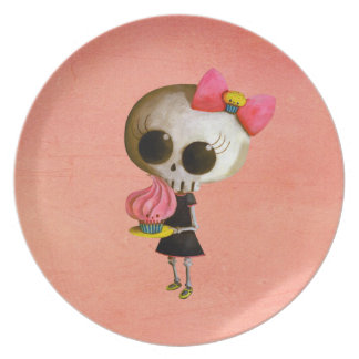 Little Miss Death with Cupcake Plate