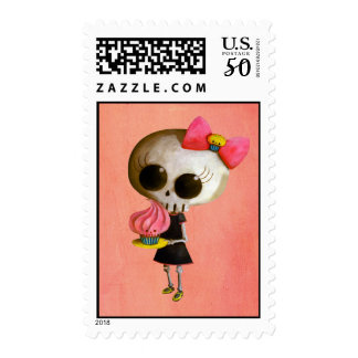 Little Miss Death with Cupcake Postage