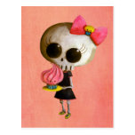 Little Miss Death with Cupcake Postcard