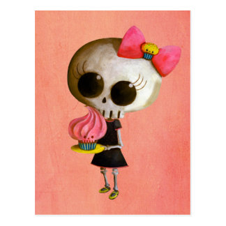 Little Miss Death with Cupcake Post Card
