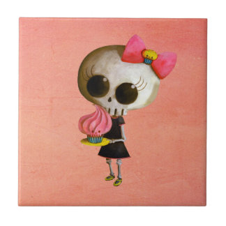 Little Miss Death with Cupcake Tiles