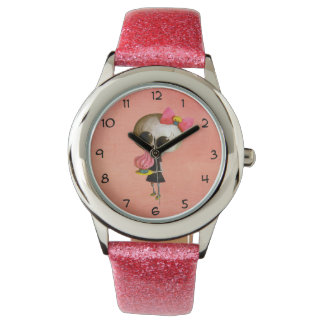 Little Miss Death with Cupcake Wristwatch