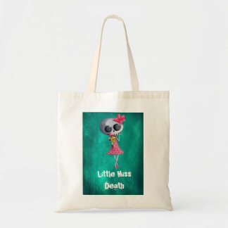 Little Miss Death with Halloween Ice Cream Canvas Bags