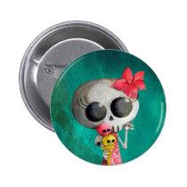 artsprojekt, halloween, emo gift, halloween girl, skull, ice cream, halloween gift, cute halloween, skeleton, cute skeleton, halloween illustration, halloween idea, trick or treat, halloween design, skeleton pin up, halloween pin up, skeleton girl, halloween ice cream, halloween present, emo present, skeleton present, skeleton gift, Button with custom graphic design