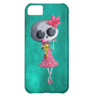 Little Miss Death with Halloween Ice Cream Case For iPhone 5C