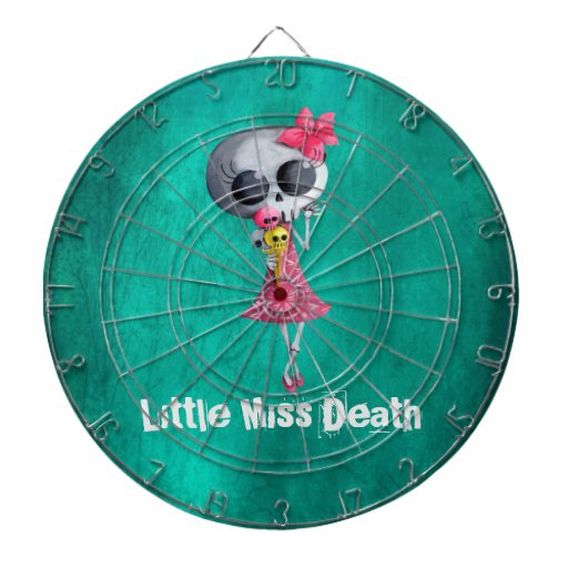 Little Miss Death with Halloween Ice Cream Dartboard