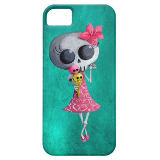 Little Miss Death with Halloween Ice Cream iPhone SE/5/5s Case