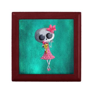 Little Miss Death with Halloween Ice Cream Jewelry Box