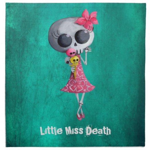 Little Miss Death with Halloween Ice Cream Cloth Napkin