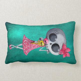 Little Miss Death with Halloween Ice Cream Pillow