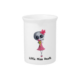 Little Miss Death with Halloween Ice Cream Drink Pitcher
