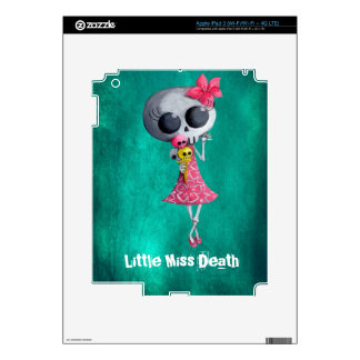 Little Miss Death with Halloween Ice Cream Decal For iPad 3