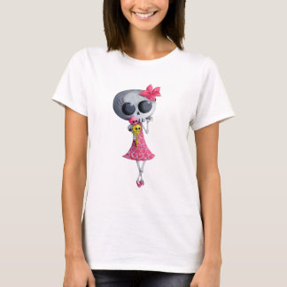 Little Miss Death with Halloween Ice Cream T-Shirt
