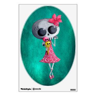 Little Miss Death with Halloween Ice Cream Wall Sticker