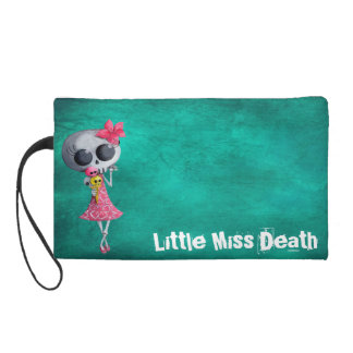 Little Miss Death with Halloween Ice Cream Wristlet Purse