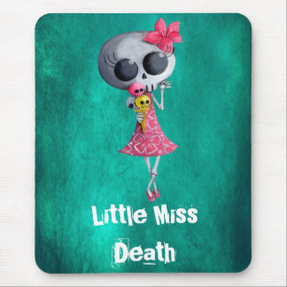 Little Miss Death with Ice Cream -custom text- Mouse Pad