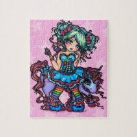 Little Miss Deelish Fairy Unicorn Fantasy Jigsaw Puzzle