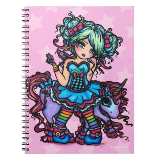 Little Miss Deelish Fairy Unicorn Princess Fantasy Notebook