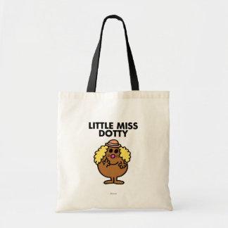 Little Miss Dotty | Black Lettering Budget Tote Bag