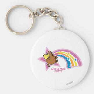 Little Miss Dotty | Chasing Rainbows Basic Round Button Keychain