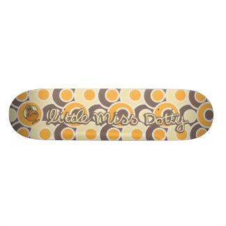 Little Miss Dotty | Colorful Dots Skateboard Deck