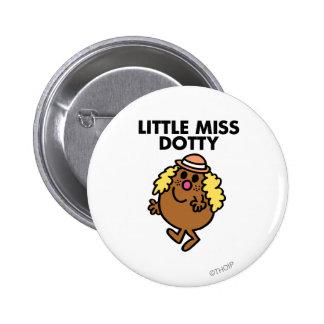 Little Miss Dotty Waving 2 Inch Round Button