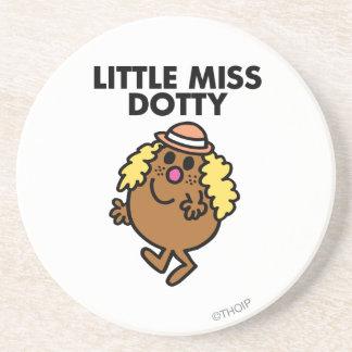 Little Miss Dotty Waving Drink Coasters